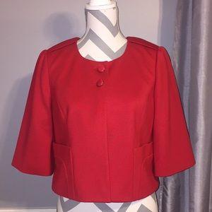 Loft Red crop jacket